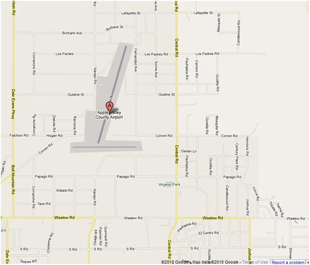 Apple Valley Airport Map