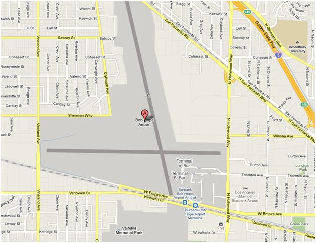 Bob Hope Airport Map